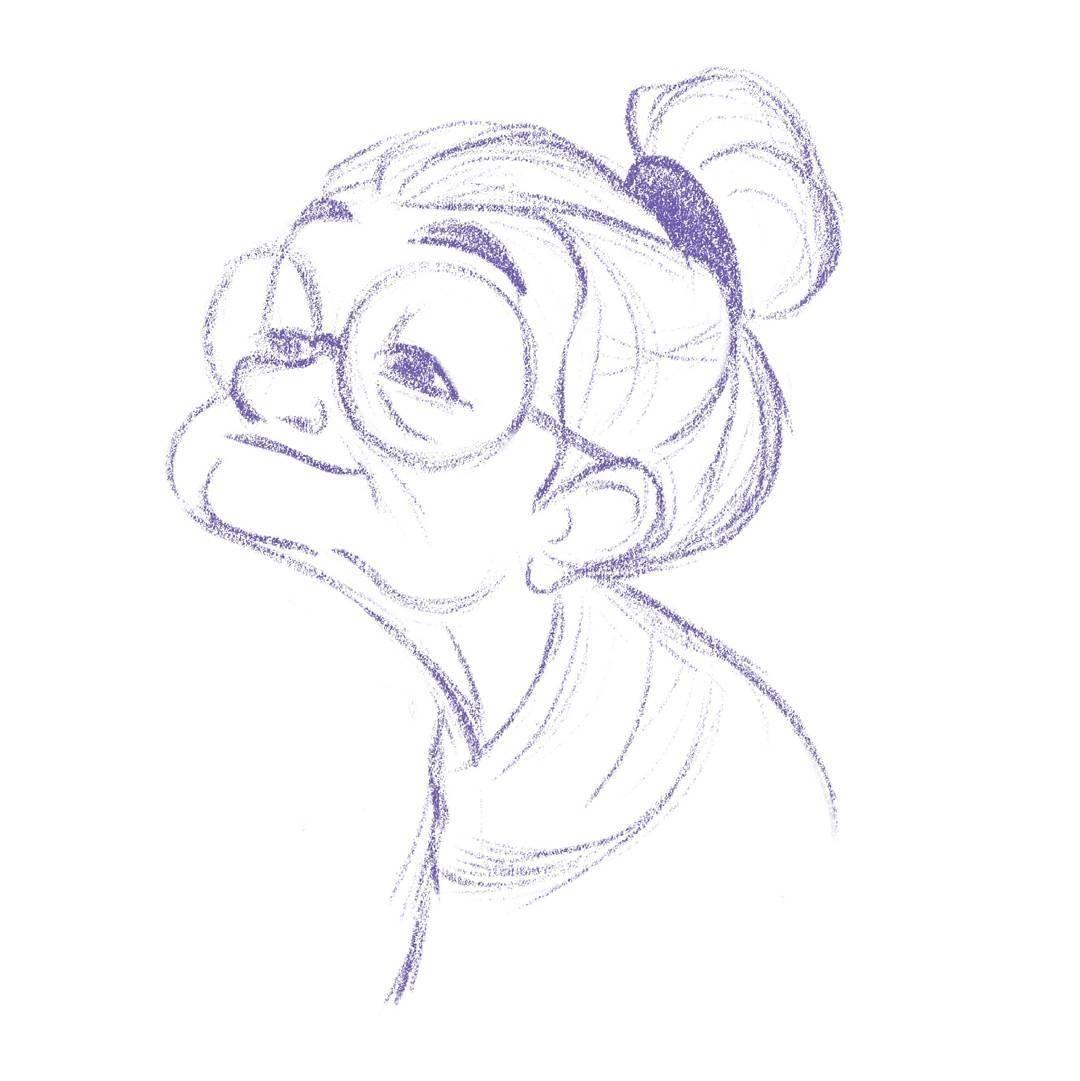 this sketch is so sweet, old lady | Desenhos animados para ...