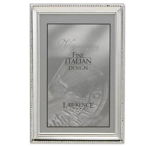 Lawrence Frames Polished Silver Plate 8 By 12 Inch Picture Frame