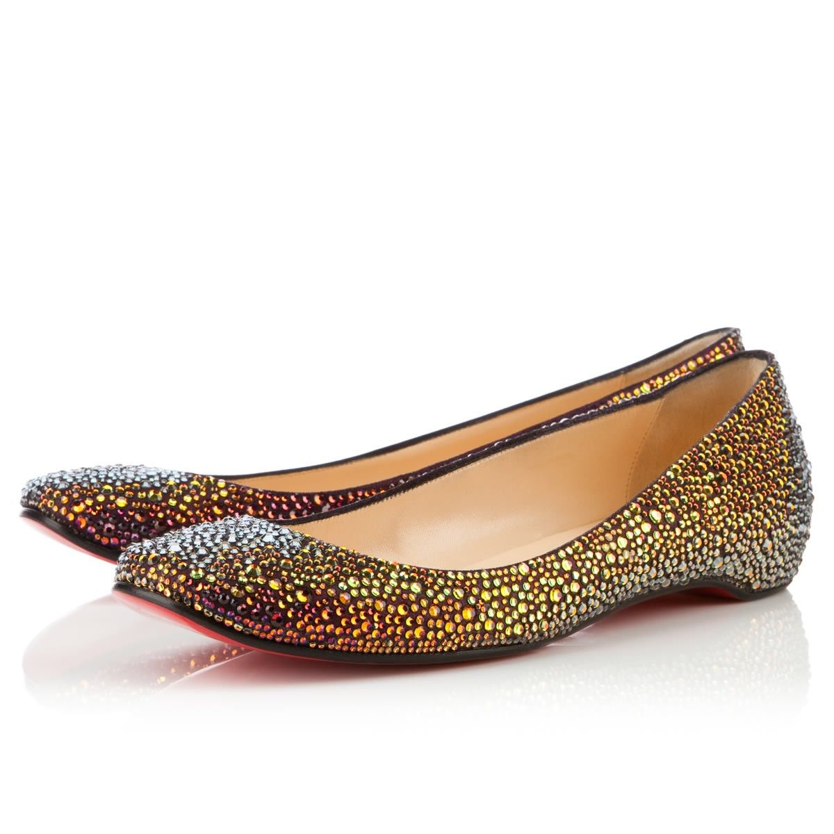 47a1324dbd3 Christian Louboutin Gozul Strass Flat | SHOES and funky bags | Flats ...