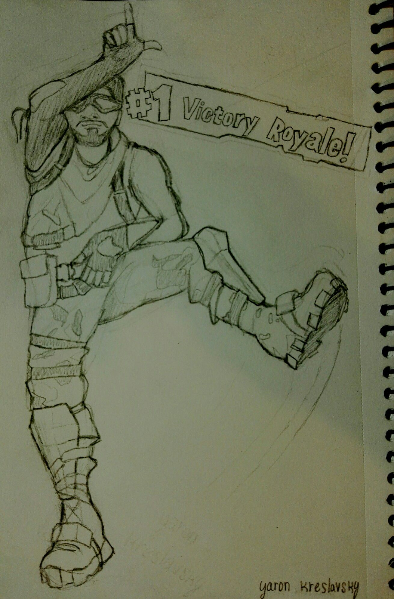 Take The L Dance Victory Royale Fortnite Drawing Funny Pencil
