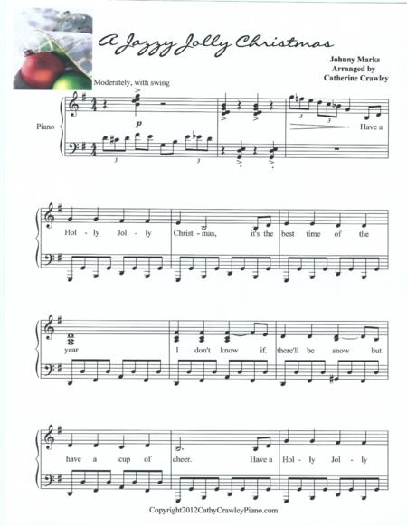A Jazzy Jolly Christmas Christmas sheet music, Christmas