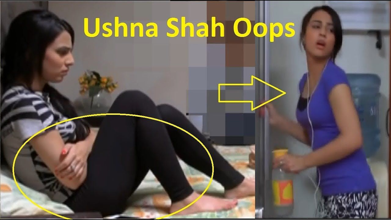 ushna shah in tight black leggy jeans || pakistani actress oops
