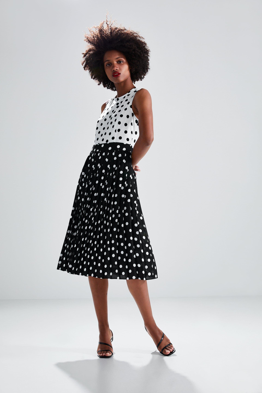 93e3ab10 PLEATED POLKA DOT DRESS - View all-DRESSES-WOMAN | ZARA United States