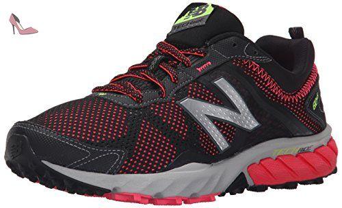wholesale dealer 996c0 129be New Balance Women s WT610V5 Trail Shoe, Black Pink, 12 B US - Chaussures
