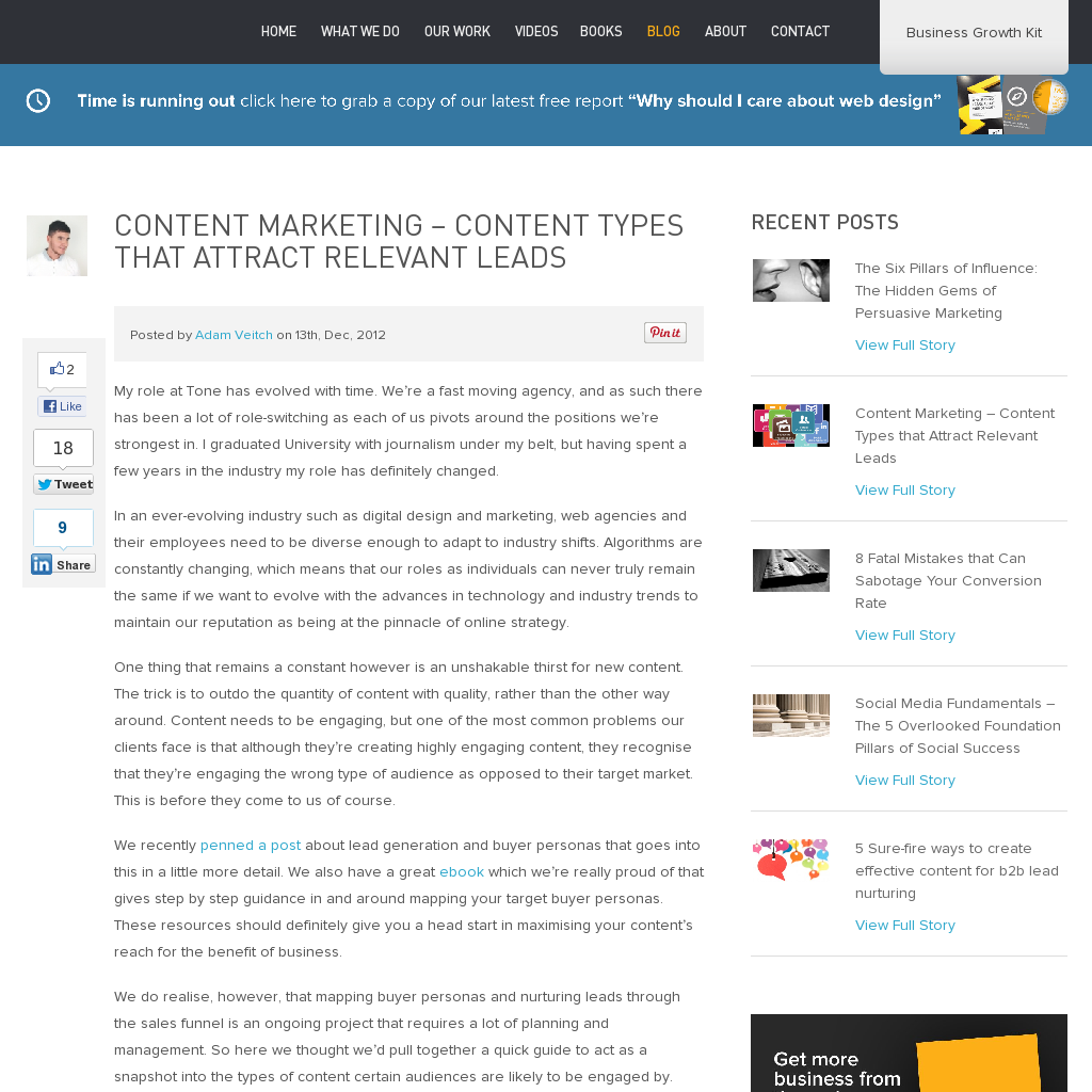 Content Types that Attract Relevant Leads Social media
