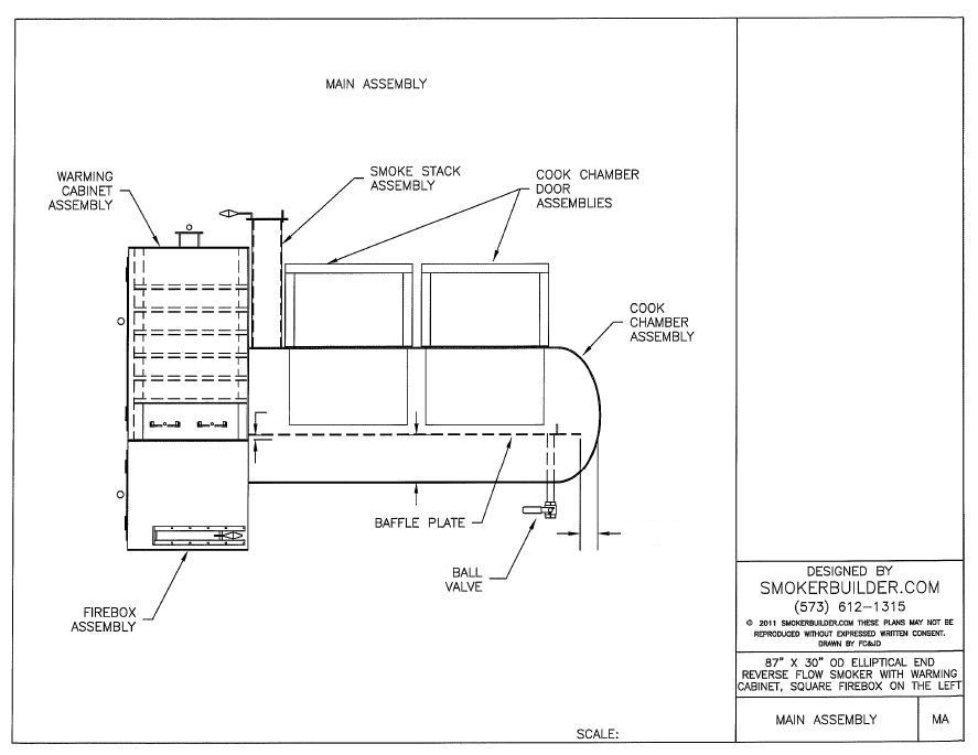 Smoker plans 200 gallon propane tank w warming cabinet for Barrel cabin plans
