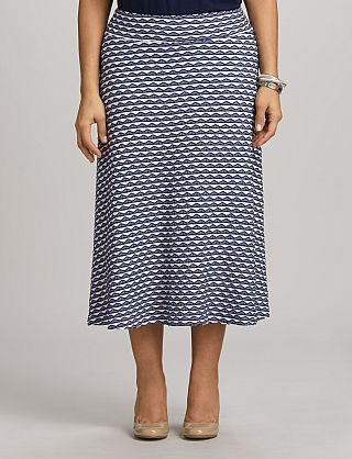 Plus Size Wavy Knit A-Line Skirt   Dressbarn