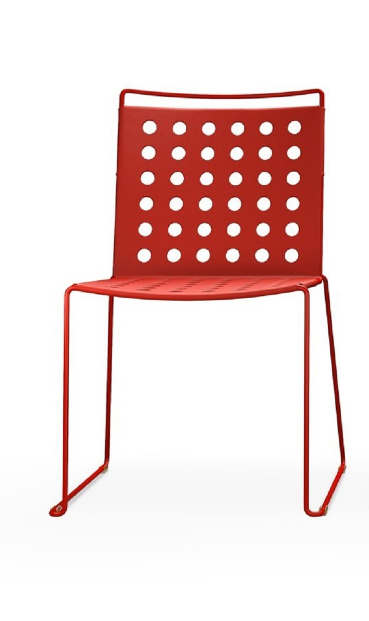 Busy, the chair with a single printed-aluminium body