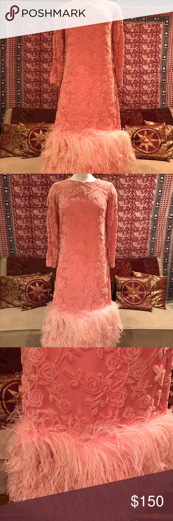 Vintage Lillie Rubin Dress | Ostrich feathers, Emboss and Feathers