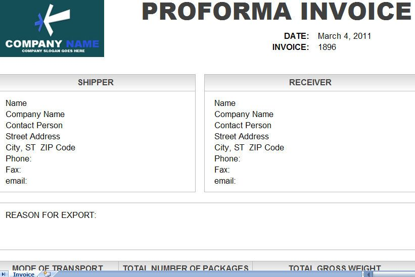 To Download Proforma Invoice Template In Excel Format You Can Visit - Proforma invoice template pdf online sports store