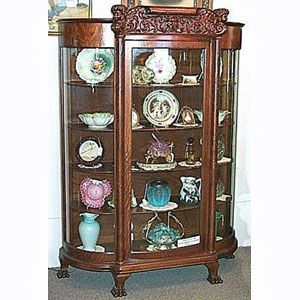 Antique Cabinet Curved Glass