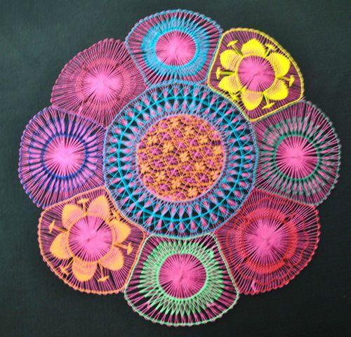 Pink 35 cm Nanduti | eBay