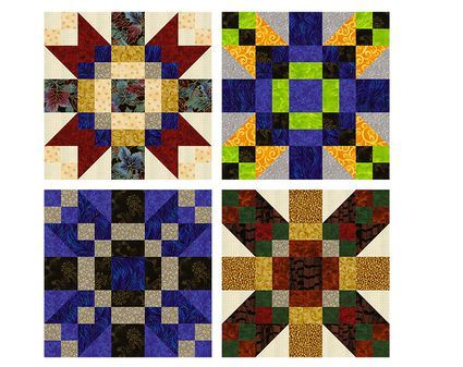 Mosaic Pinwheels Quilt Blocks With Side By Side Links Pinwheel