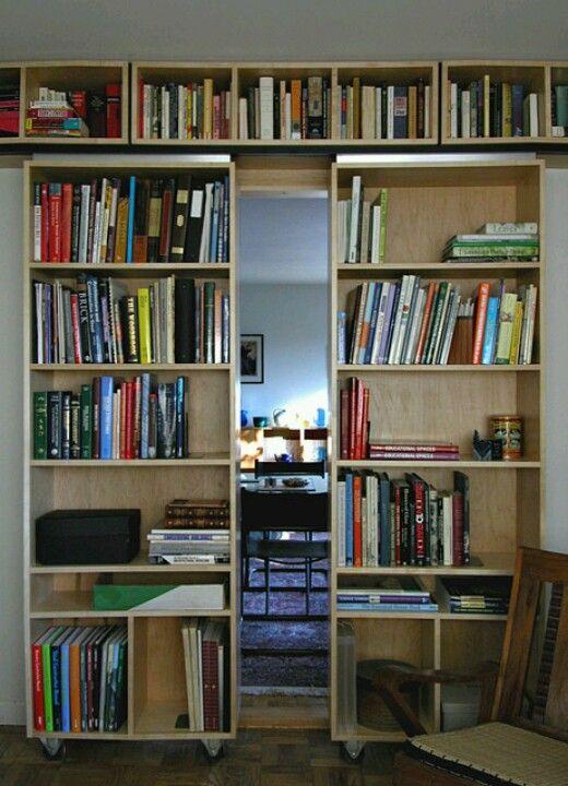 Moving Book Shelf Instead Of Barn Doors