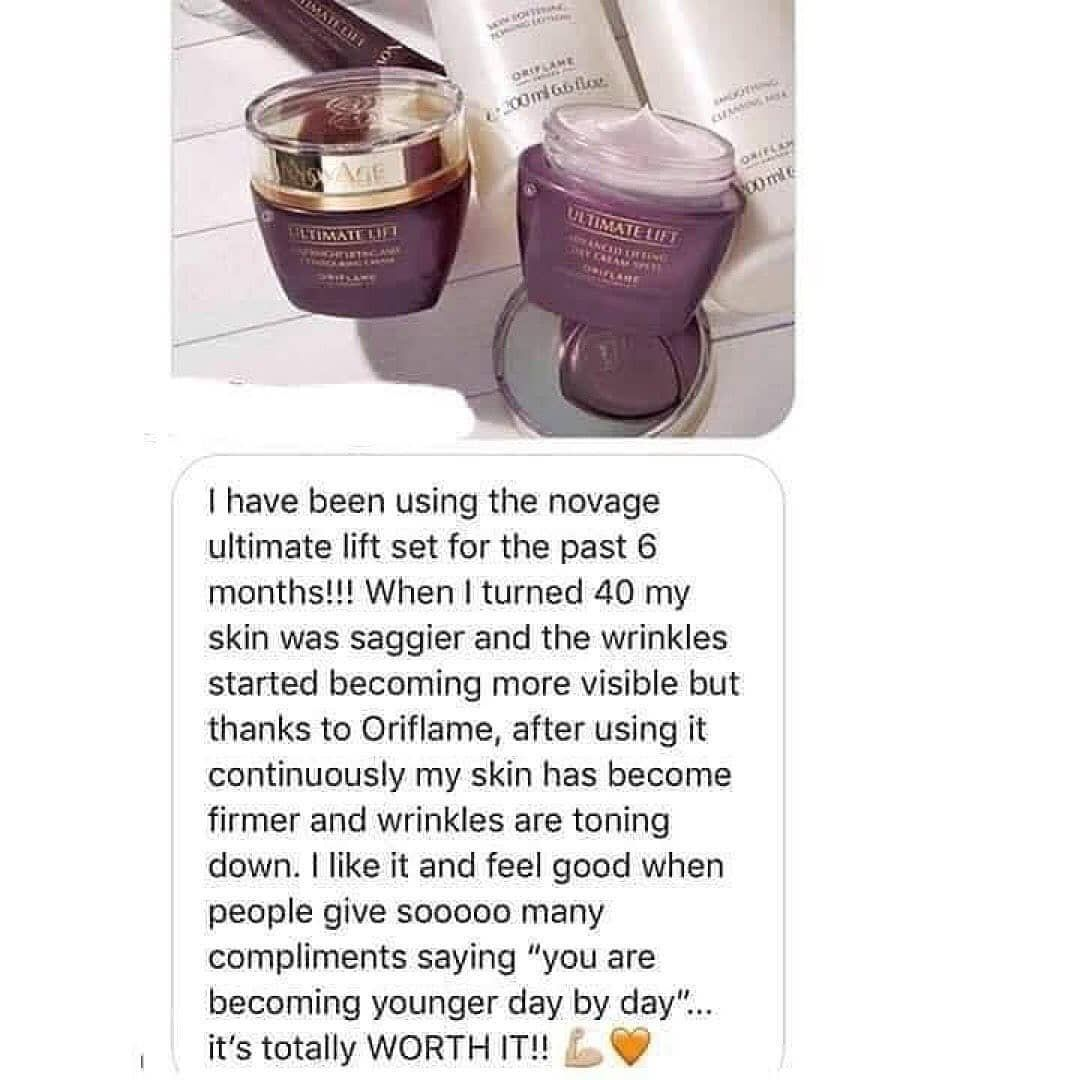 - Lovely feed back from the customer. Anyone here who wants to stay young and youthful? We have c