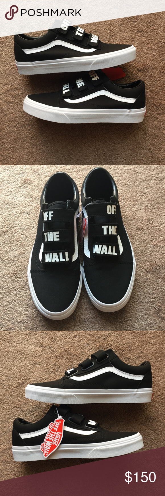 Vans Off The Wall Old Skool V Skate Shoes Sz 9 NEW Brand new
