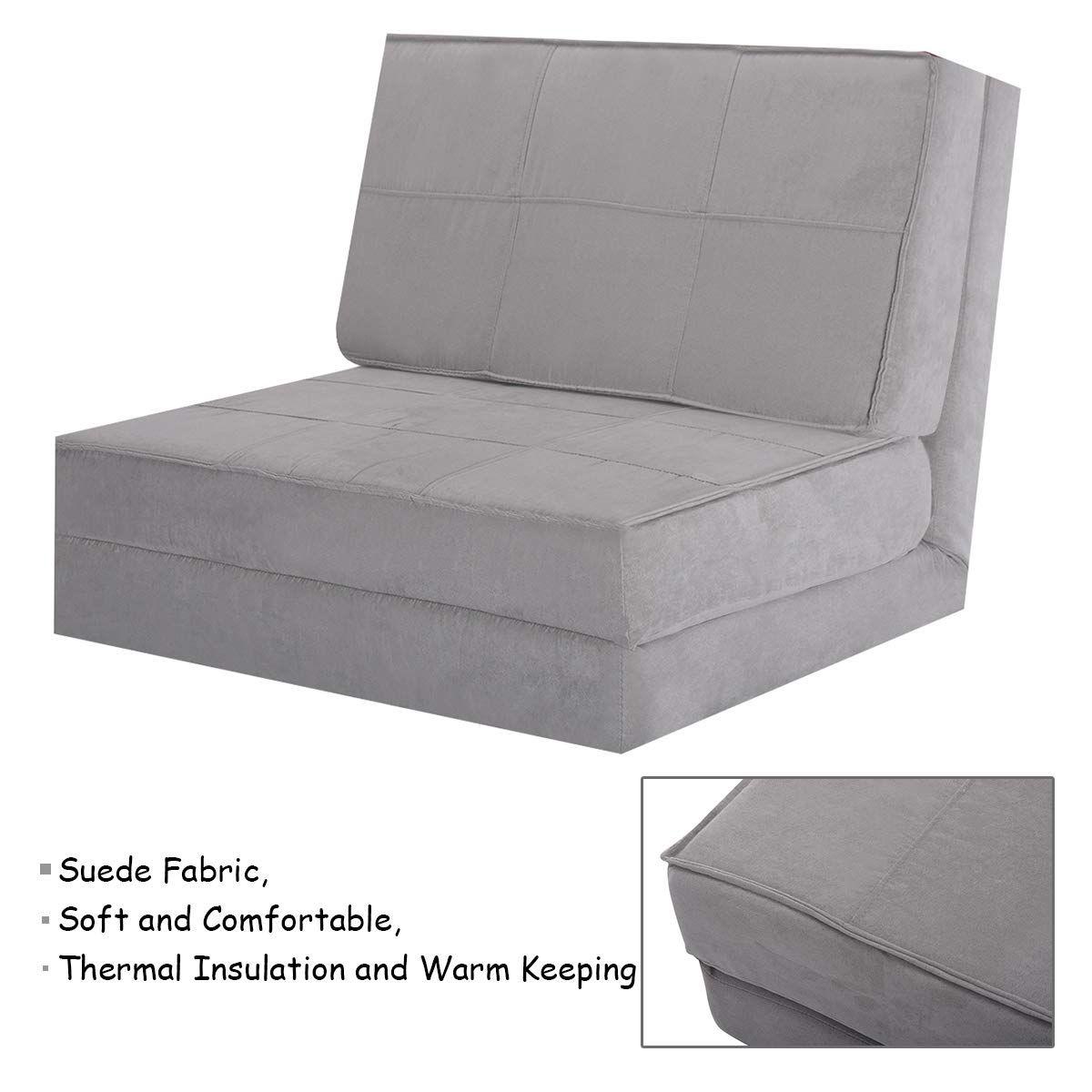 Giantex 5Position Adjustable Convertible Flip Chair ...