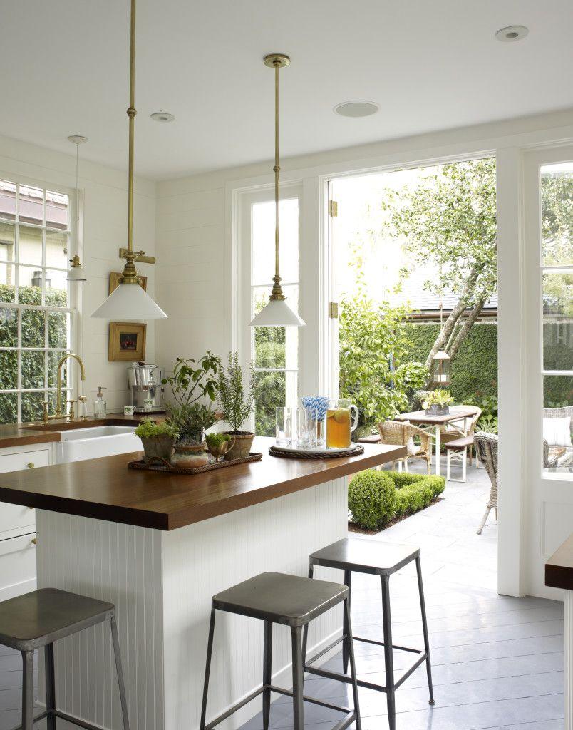 Beautiful charleston kitchen open to the outdoors olivia brock