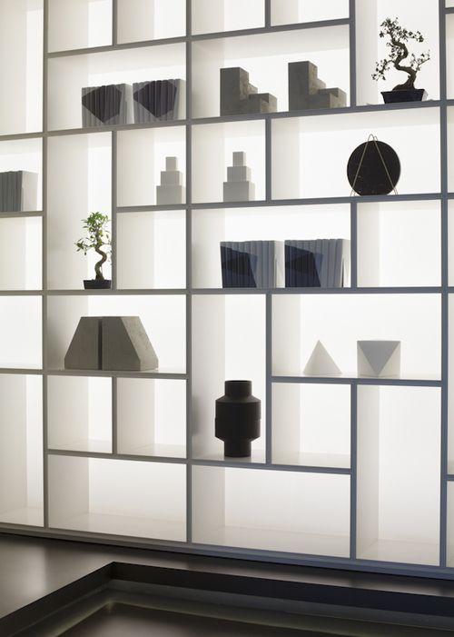 Rimadesio Opus | design modulaire boekenkast, wandmeubel ...