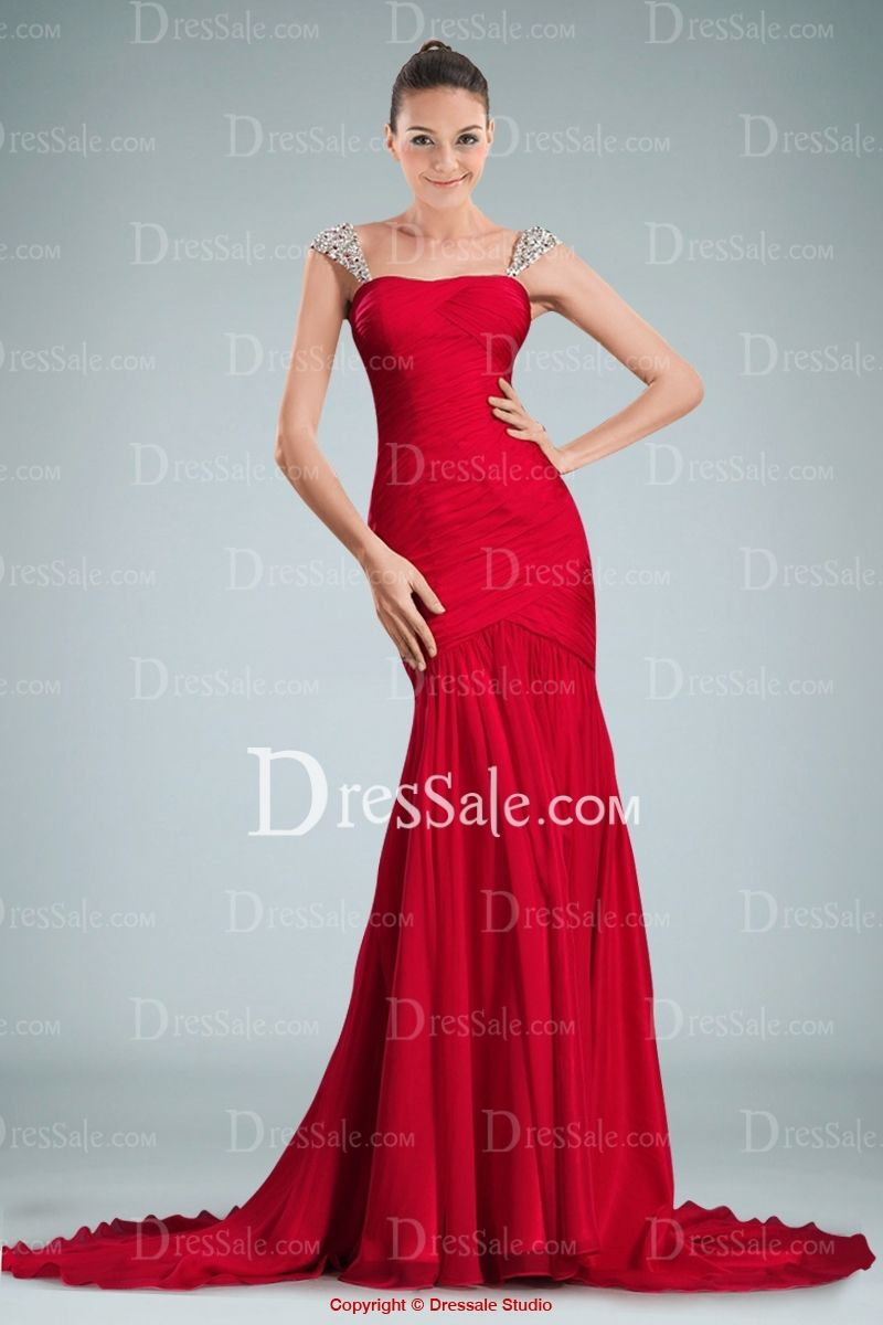 Garish Sheath Evening Gown With Sparkling Beaded Appliques