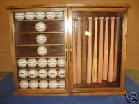 Mini Bat Baseball Display Cabinet Rack Item By Uniquedisplaycases, $249.99