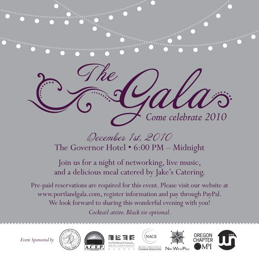 gala invite | The Portland Gala Invitation 2010 | invites ...