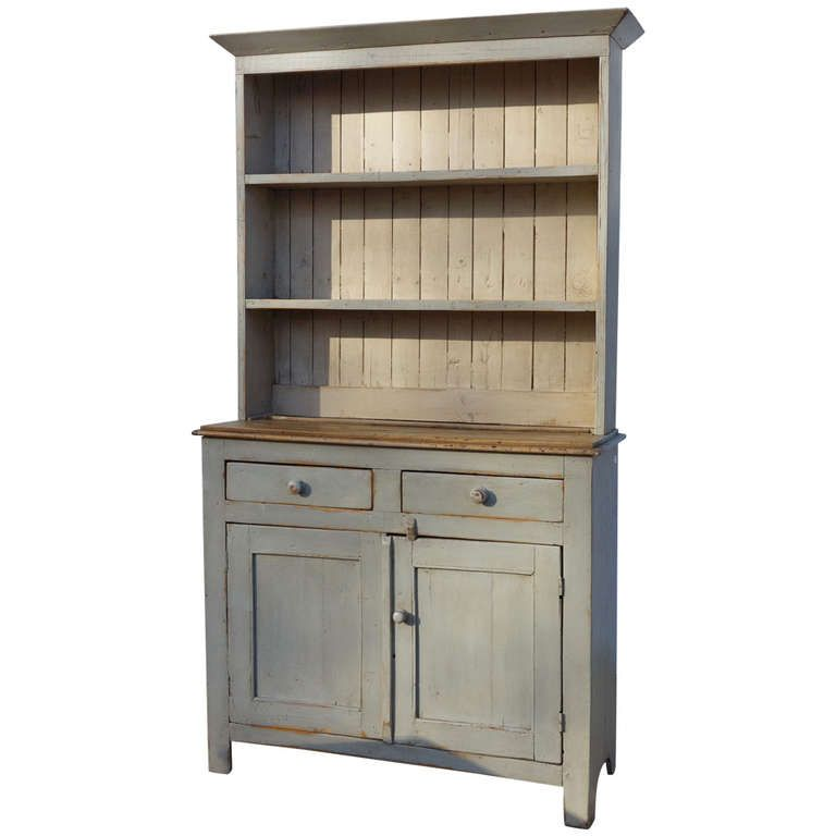Painted English Kitchen Dresser | From a unique collection of antique and modern dressers at http://www.1stdibs.com/furniture/storage-case-pieces/dressers/