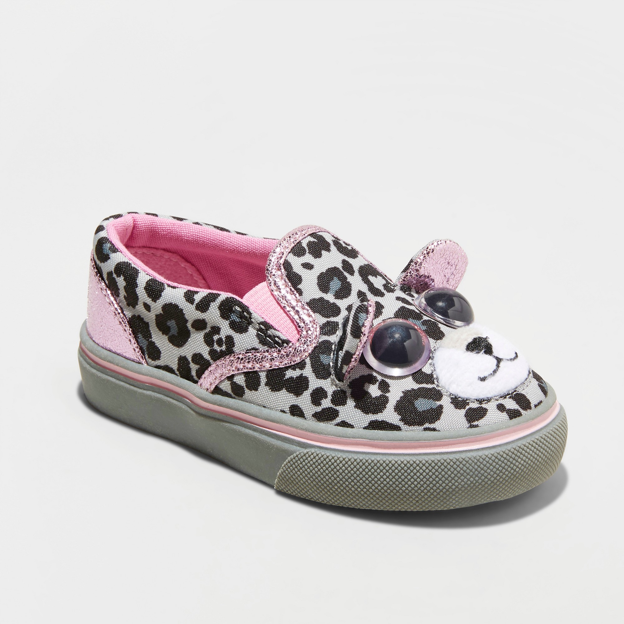 261419b8d25b Toddler Girls  Jumparoos Leopard Slip on Sneakers - Gray 11 ...