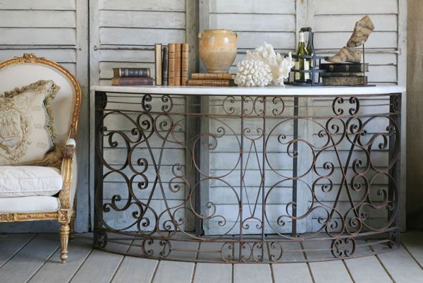 Iron balcony console cc occasional tables pinterest for Balcony console