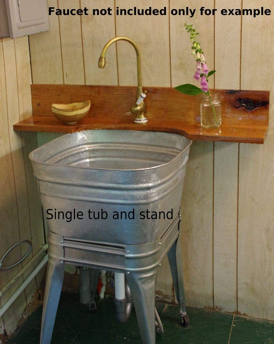 Square Wash Tub With Standard 1 1 2 Tailpiece Kitchen Sink Basket Drain Strainer Double Tub With Standard 1 1 2 Tailpiece Drain An Wash Tubs Sink Basket Tub