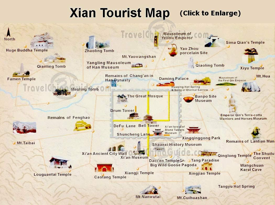 Https Www Travelchinaguide Com Images Map Shaanxi Xian Tourist Jpg Agronomia