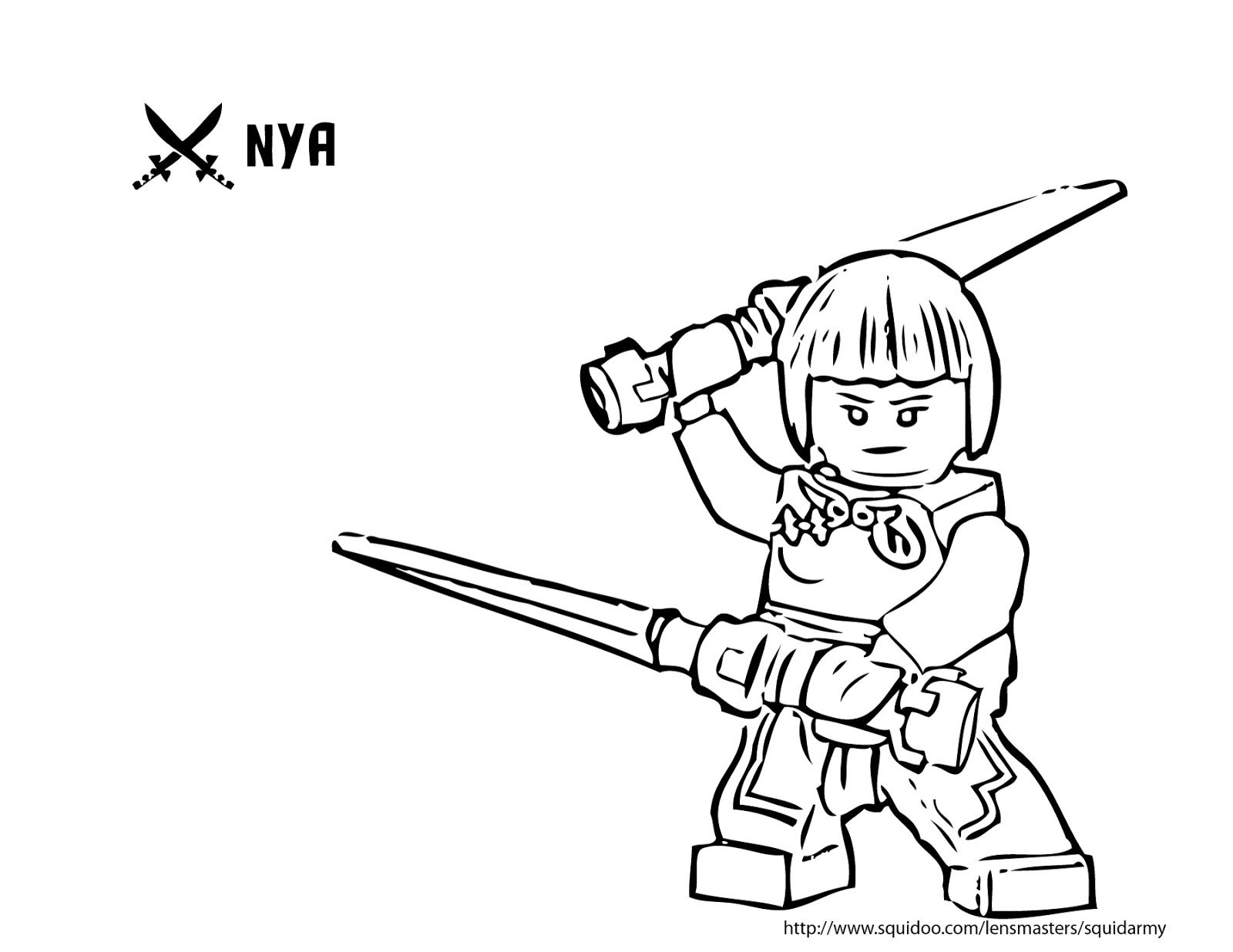 Coloring Ninjago Nya Pages 2020 Ninjago Coloring Pages