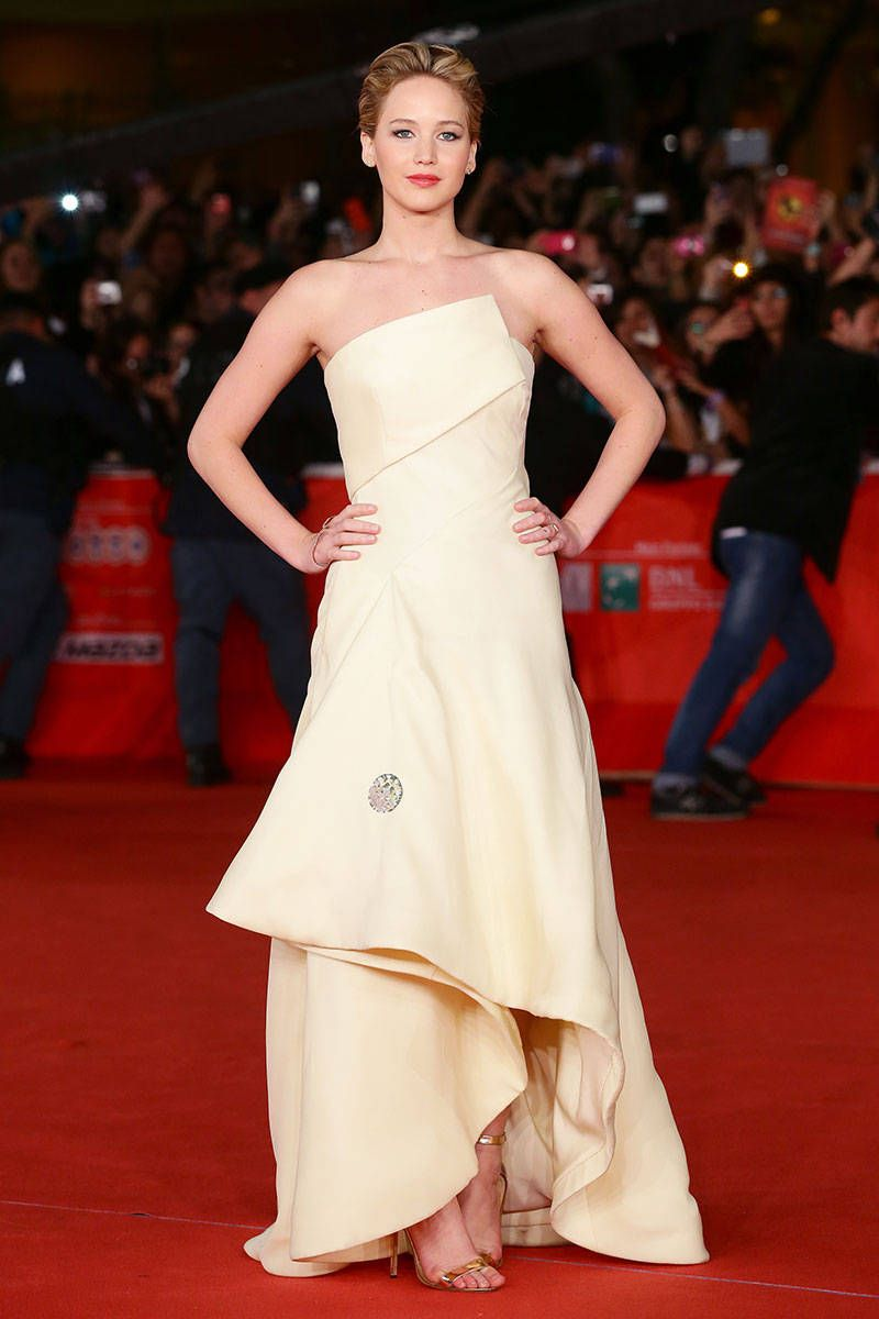 Jennifer Lawrence Went Out in a Bondage-esque Ball Gown   Jennifer ...