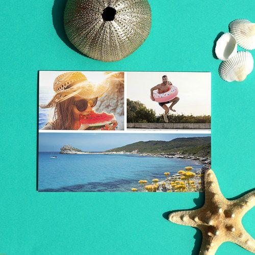Mettez en avant vos superbes photos de vacances avec cette carte postale Multiphoto Horizontale ...