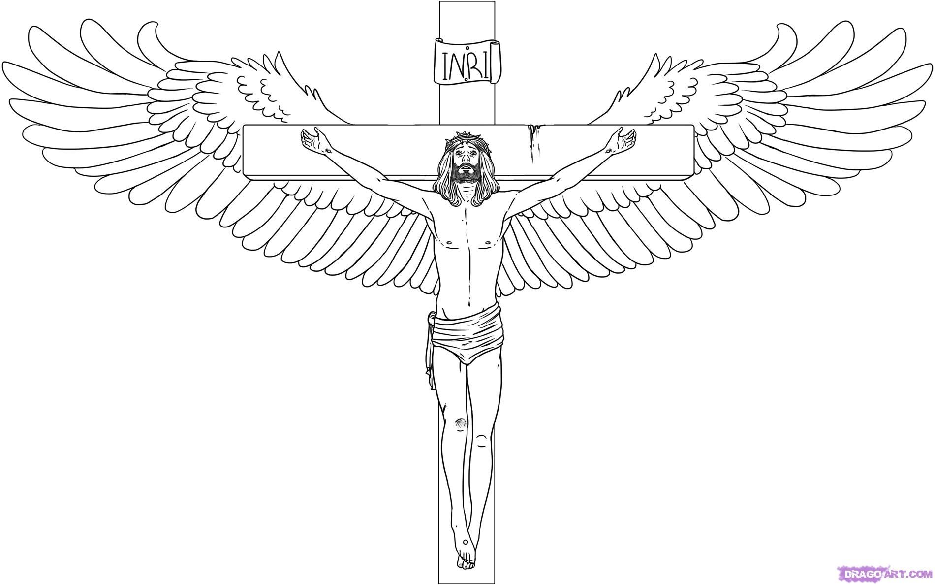 Sketch Drawing Of Cross