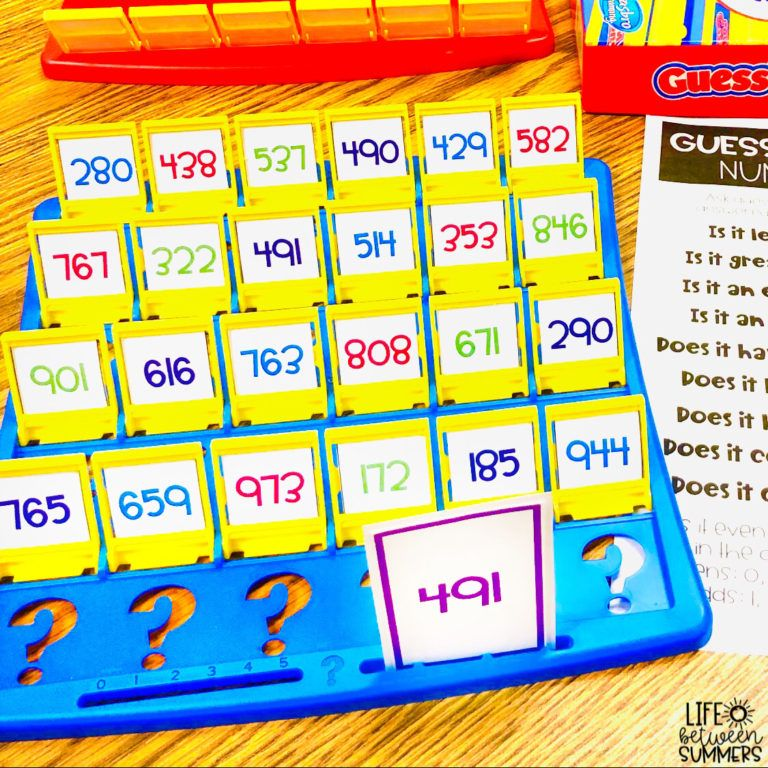 GUESS WHO Math Games: Practicing Skills with Student Engagement and Rigor - Life Between Summers