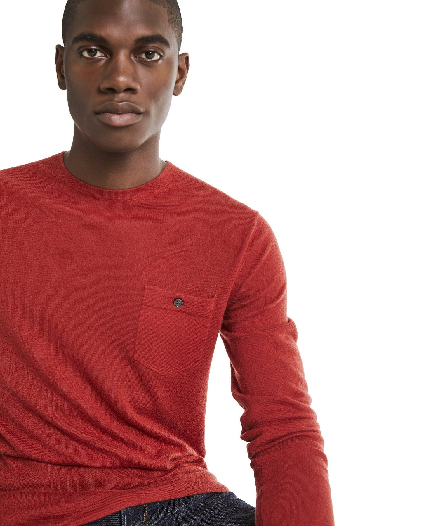 Todd Snyder Cashmere T Shirt Sweater In Burnt Orange Xxl Sweater Shirt Men Sweater Shirts [ 1800 x 1500 Pixel ]