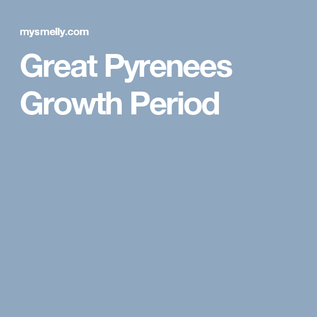 great pyrenees growth period
