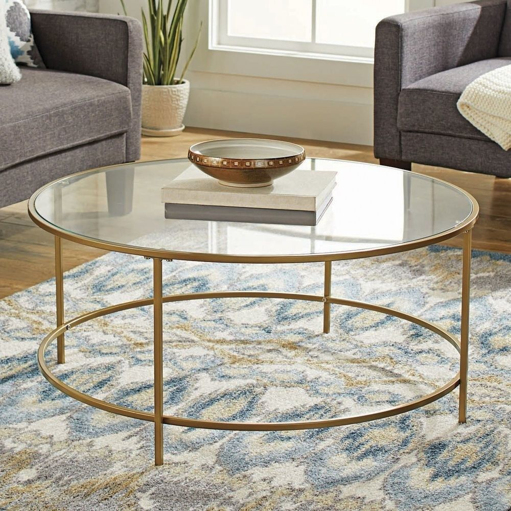 34 Inexpensive Pieces Of Decor For When You Re Broke But Want To Redecorate Gold Coffee Table Glass Top Coffee Table Round Glass Coffee Table [ 1000 x 1000 Pixel ]
