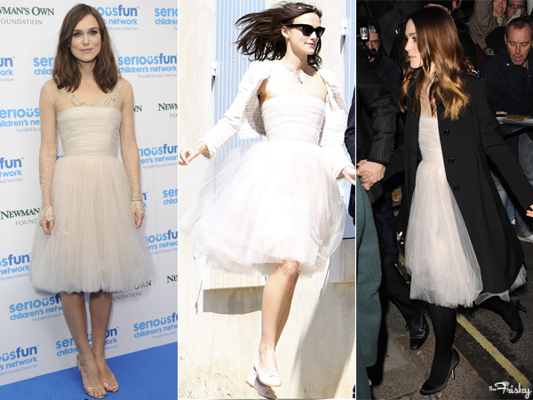keira knightley recycles her chanel wedding dress for