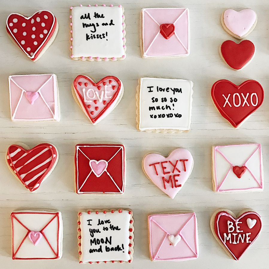 Valentine's Day Sugar Cookies with Royal Icing - C