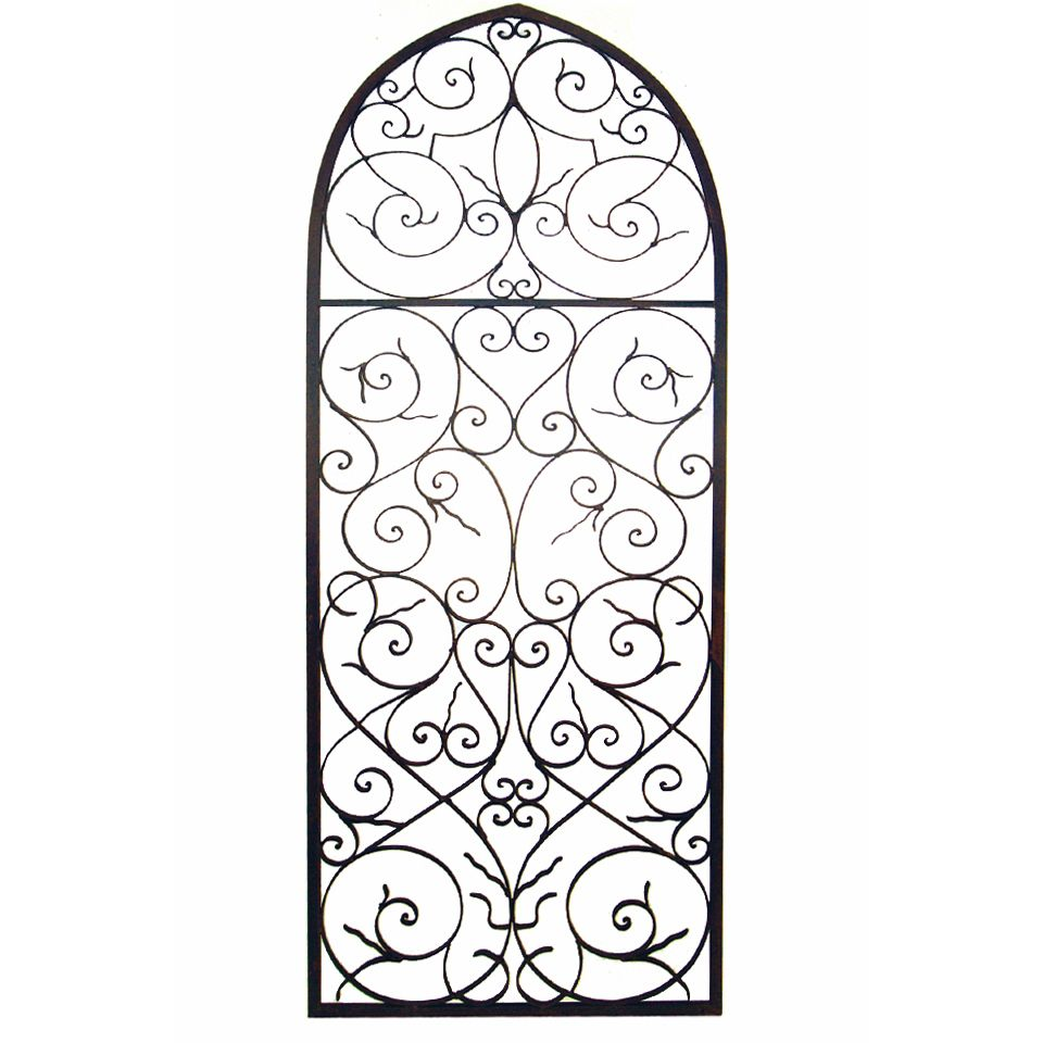 Wrought Iron Wall Grille Tuscan Wrought Iron Large Wall Grille Plaque  Iron Wall Decor