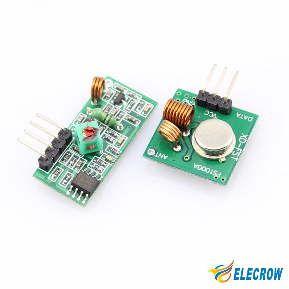 Elecrow 433mhz Rf Transmitter And Receiver Module Ccoard Ordinary Pair Operating At 433 Mhz Super Regeneration Dc5v Ask