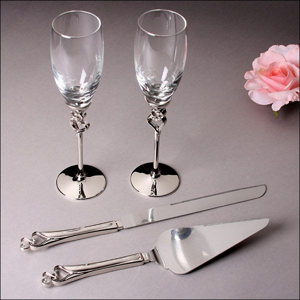 Double hearts wedding collection matching wedding accessory sets double hearts wedding collection double hearts wedding collection includes a personalized wedding cake server with two hearts and a set of two toasting junglespirit Images