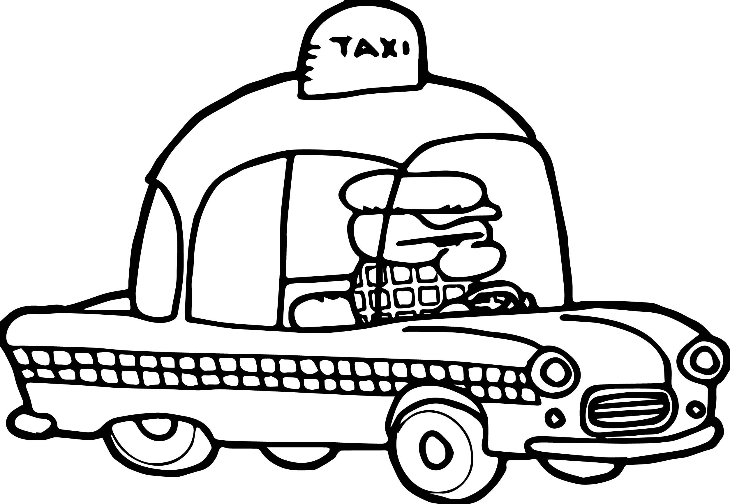 Nice Taxi Driver Coloring Page Coloring Pages Moana Coloring Pages