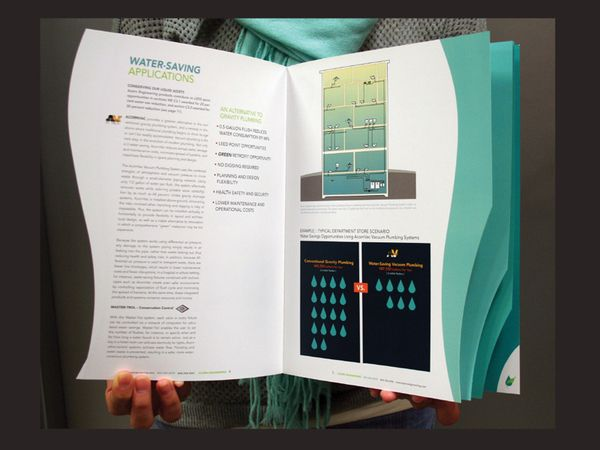 die cut tabbed brochure by cathy van hoang via behance design