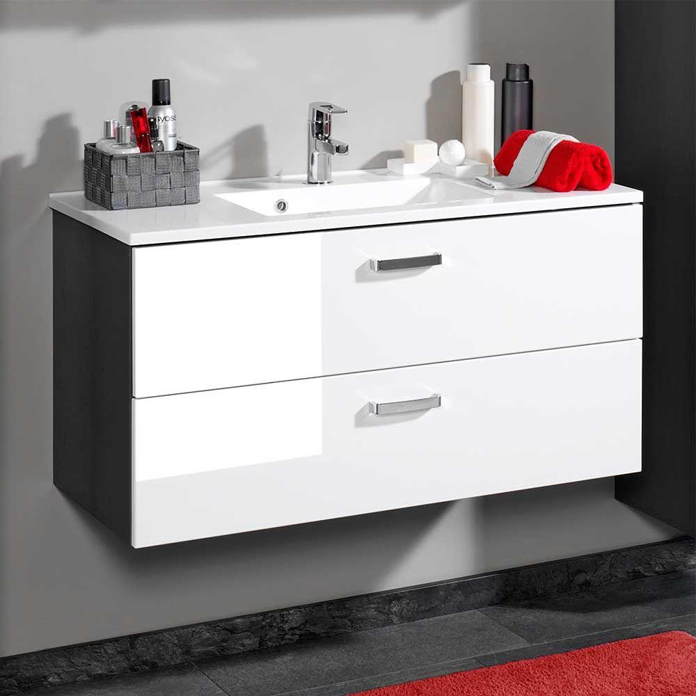 Badezimmer-dekor-sets waschtischkonsole in weiß hochglanz hängend jetzt bestellen unter