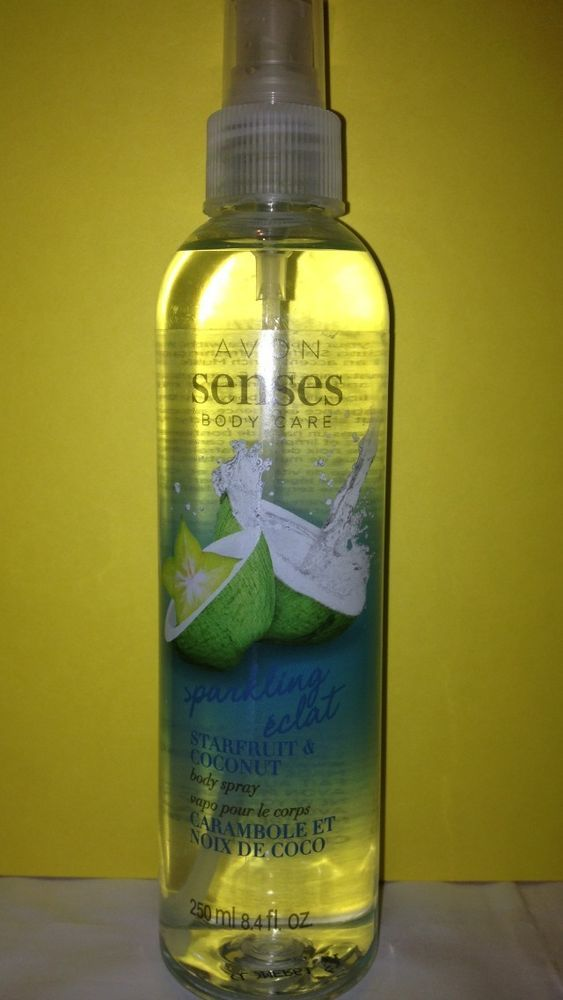 8 Avon Senses Starfruit And Coconut Body Spray New Full Size Free