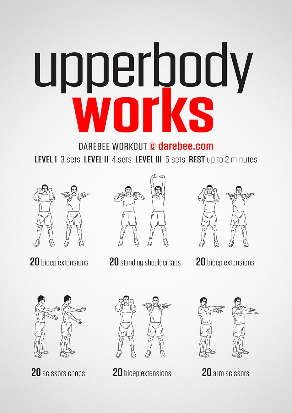 Upper Body Workout By Darebee Bodyweight Upper Body Workout Fitness Body Upper Body Workout