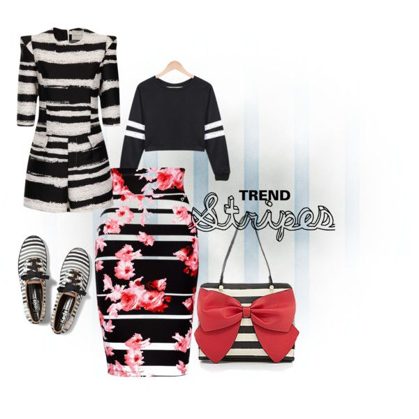 """Statement Stripes"" by rea-jain on Polyvore"